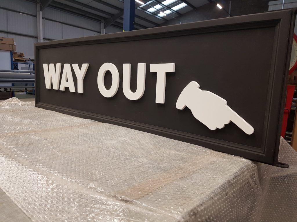 Commercial signage way out sign Viewtec Nottingham