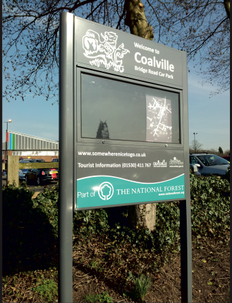 Coalville post plank national forest sign Viewtec signs Nottingham