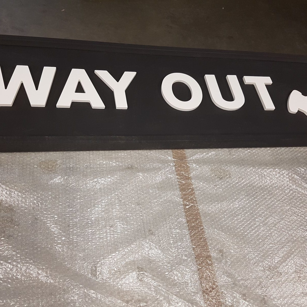 Commercial signage way out sign Viewtec Nottinghamshire