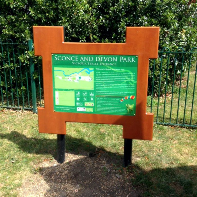 Local authority sign park signage solutions Viewtec signs Nottingham