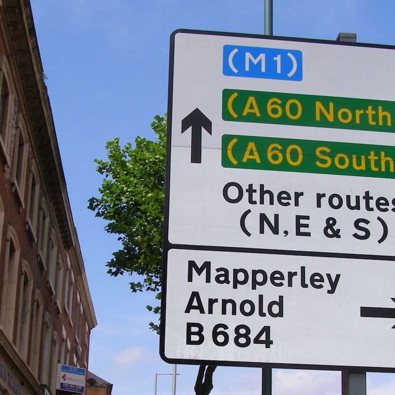 Traffic signage road traffic signs Viewtec signs Nottingham